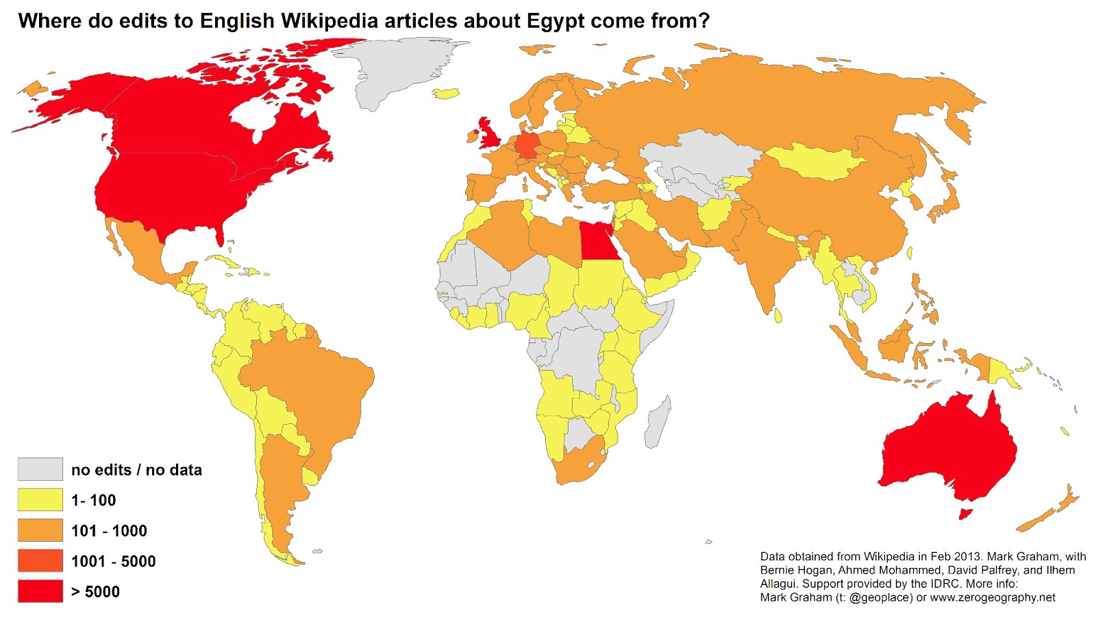 Who edits Wikipedia? A map of edits to articles about Egypt ...