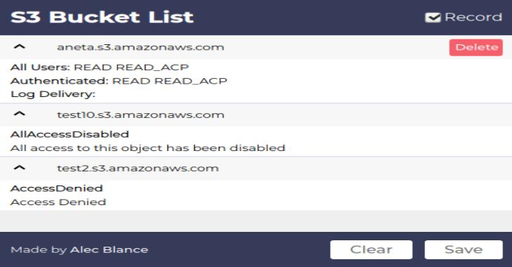 S3BucketList : Firefox Plugin That Lists Amazon S3 Buckets Found In Requests