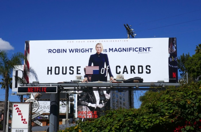 Robin Wright House of Cards 2019 Emmy billboard