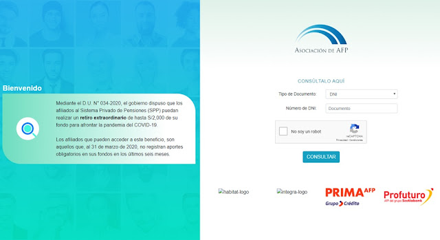 Consulta en linea fondos AFP- Prima, Profuturo