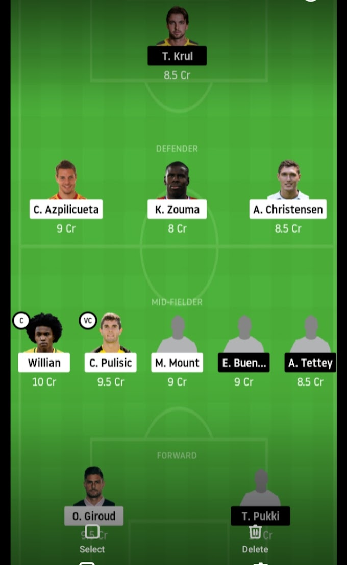 Premier League 2019-20 - Chelsea Look For Comfortable Win Against Canaries, Dream11 Fantasy Team Prediction