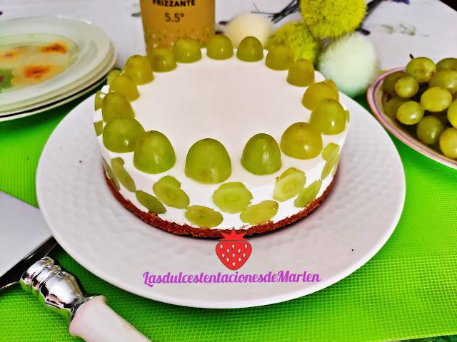 Tarta De Uvas Y Queso