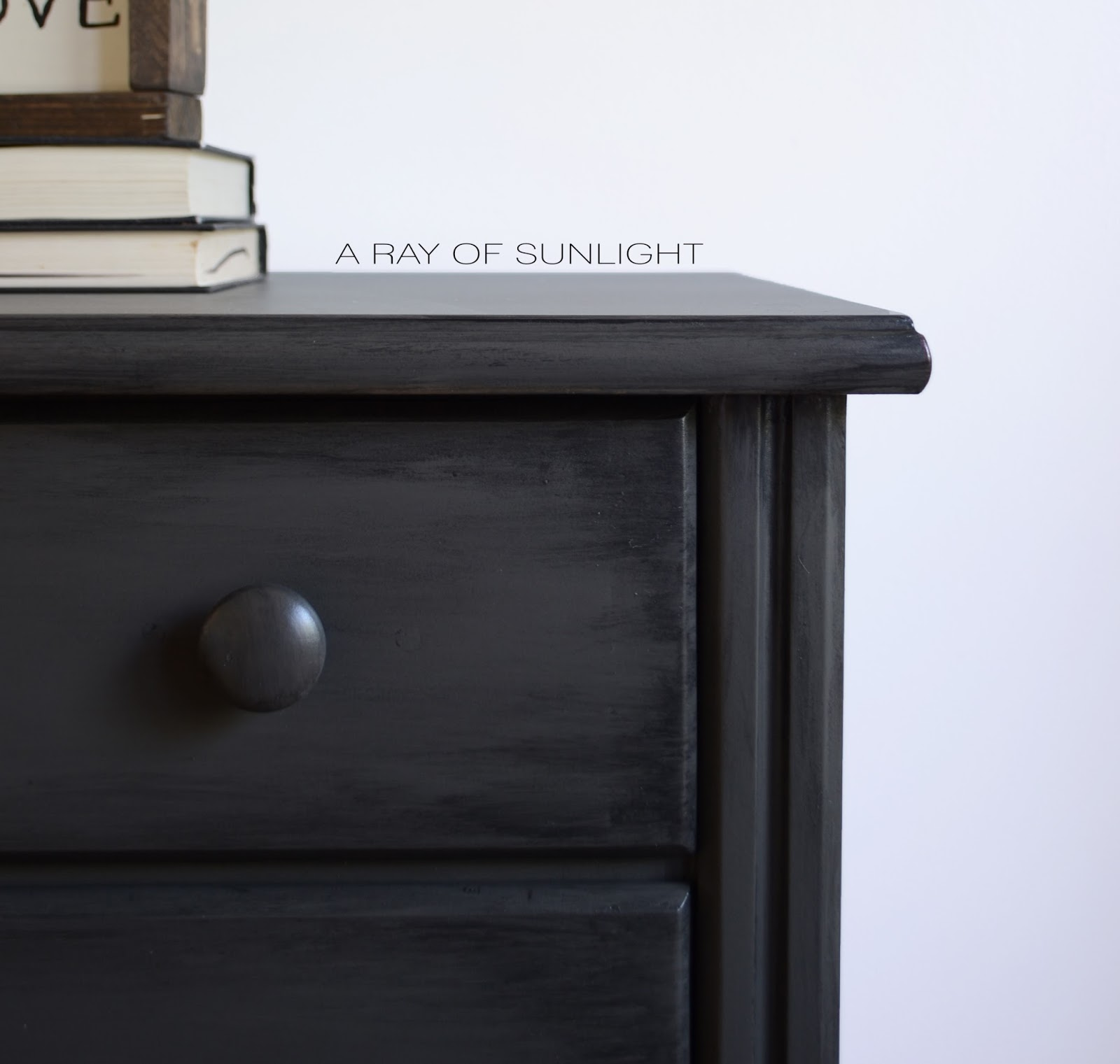 His and Hers Mismatched Oversized Nightstand Dressers in Dark Grey with  Black Antiquing Glaze by A. A Ray of Sunlight  His and Hers Nightstands