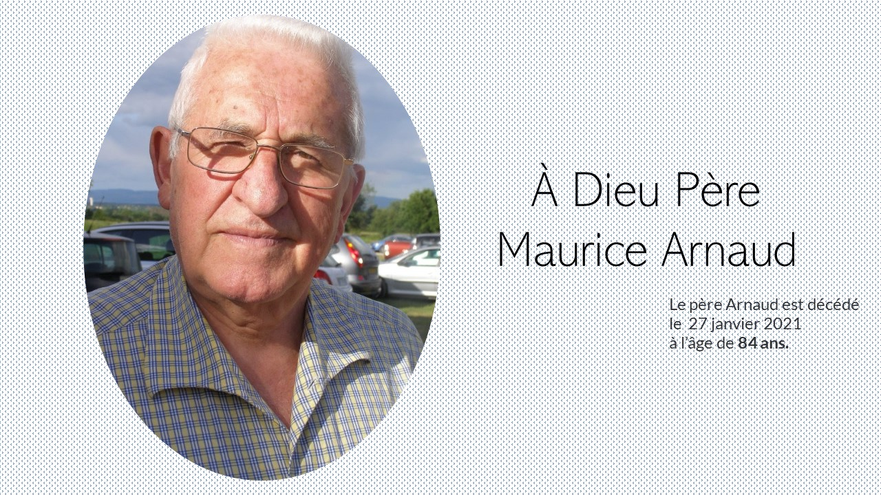 Décès du père Maurice Arnaud
