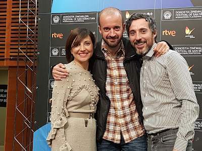 Marian Álvarez (Marta), Fernando Franco y Andrés Gertrúdix (Luis) - Rueda de prensa de Morir