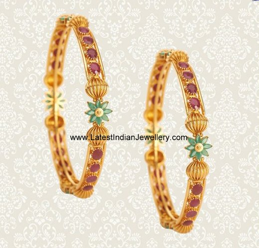 NAC Ruby Bangles Pair