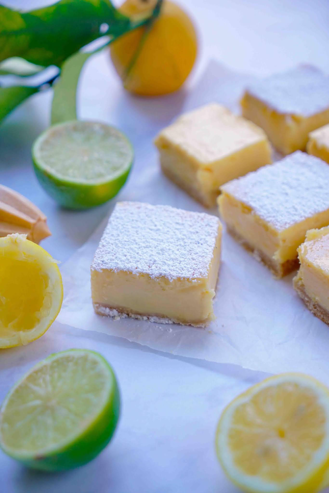 lemon curd , lemon square , dessert au citron