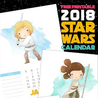 2018 star wars calendar