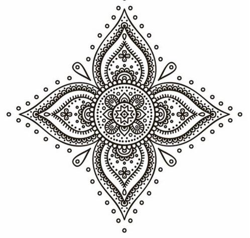 Moldes de m ndalas y adornos decorativos para hacer - Mandalas para pared ...