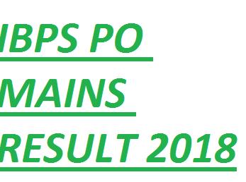 IBPS-PO-mains-result-2018