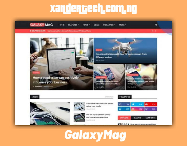 Download GalaxyMag – Responsive News & Magazine Blogger Template [FREE]