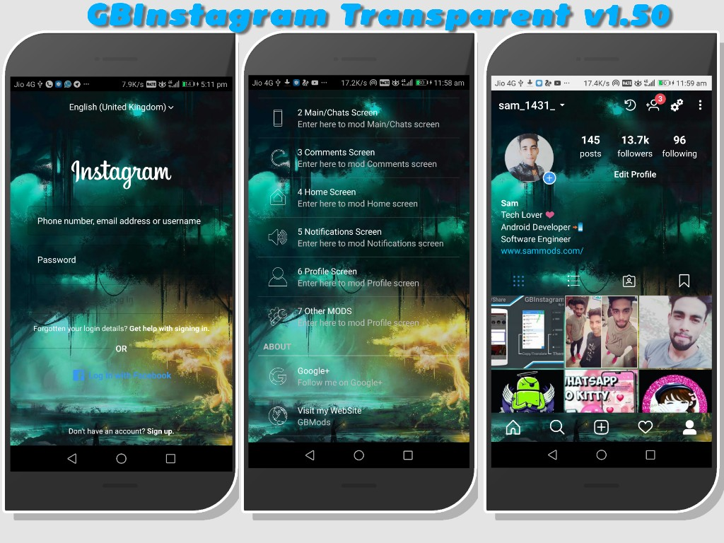 GBInstagram Plus v1 50 Transparent Edition Latest Version