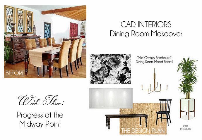 one room challenge mid century farmhouse dining room interior design diy home improvement renovation