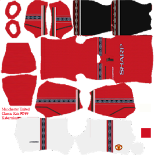 Manchester United Umbro 1998/1999 Kit Dream League Soccer 2020