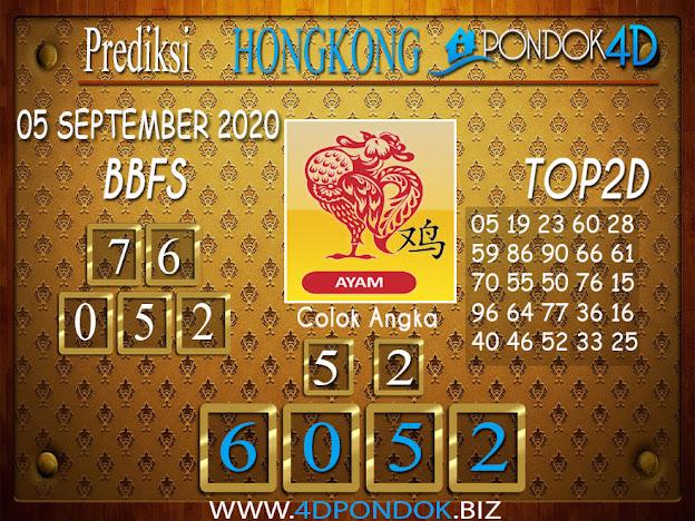 Prediksi Togel HONGKONG PONDOK4D 05 SEPTEMBER 2020