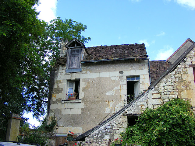 House used by salt smugglers in the past.  Indre et Loire, France. Photographed by Susan Walter. Tour the Loire Valley with a classic car and a private guide.