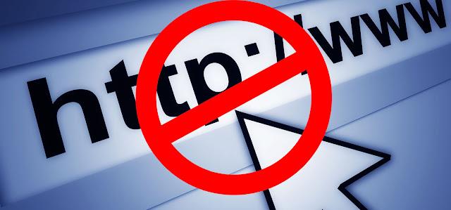 حظر المواقع على الكمبيوتر بدون برامج