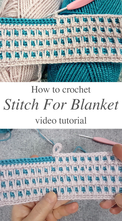 Crochet Stitch For Blanket Of Any Kind - Tutorial