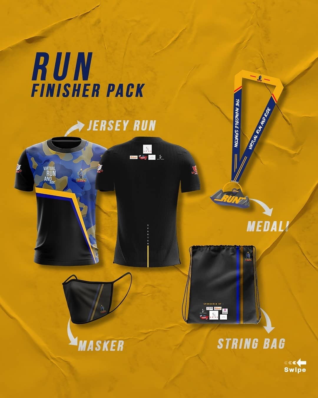 Run Racepack 👕 Spartan X - Charity Virtual Run & Ride • 2021