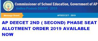 AP DEECET Second Allotment Results 2019 Rank list @ apdeecet.apcfss.in 1