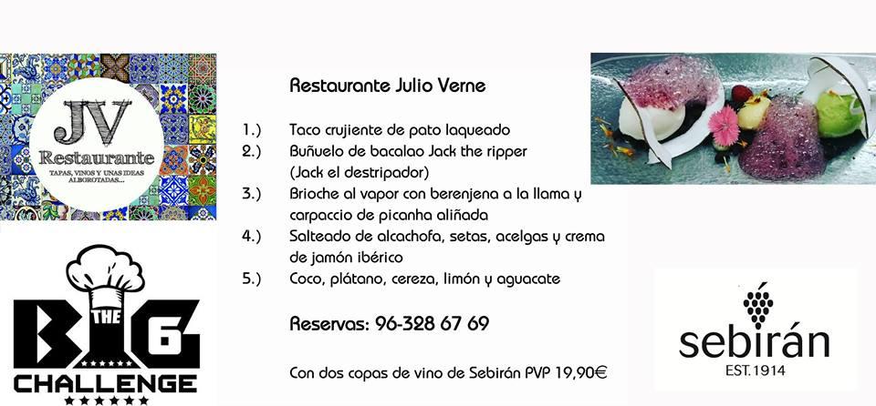 The big 6 challenge reloaded cuando salimos de casa - Restaurante julio verne ...