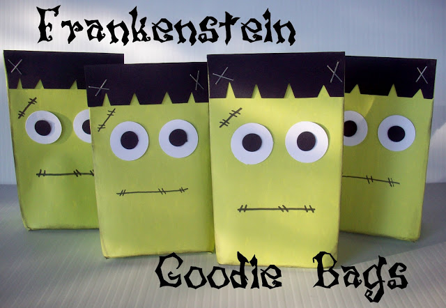 Frankenstein Goodie Bags from www.summerscraps.com