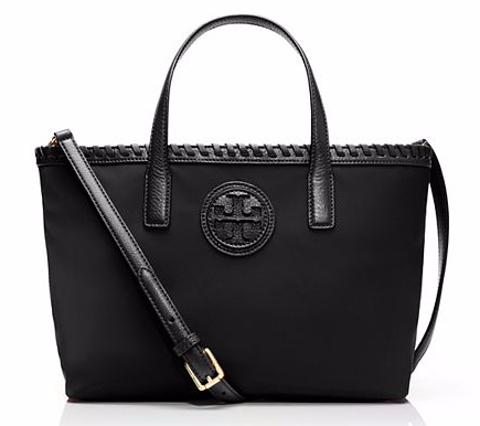 I Want Bags backup  Tory Burch Marion Nylon Mini Tote-Black dc453405e37c3