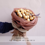 buket cokelat ferrero rocher