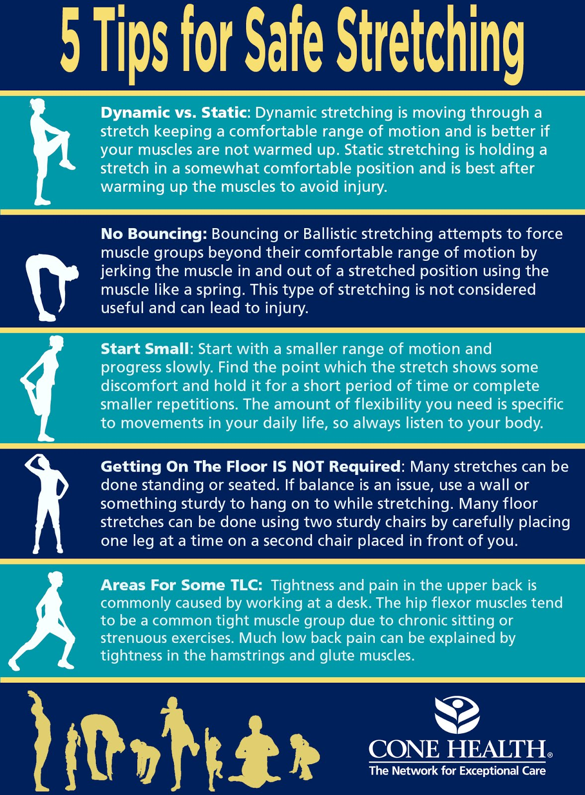 5 Tips For Safe Stretching #infographic