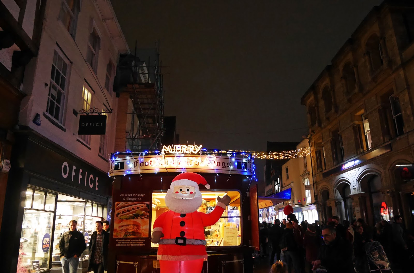 Santa inflatable on Canterbury High Street