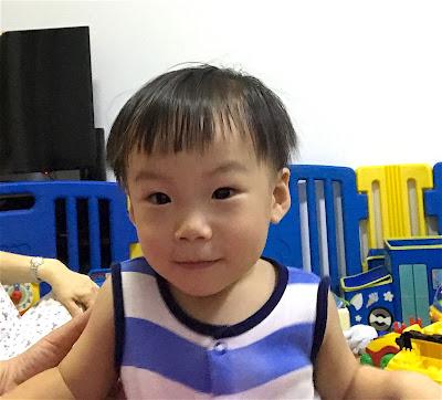 Baby's funny haircut