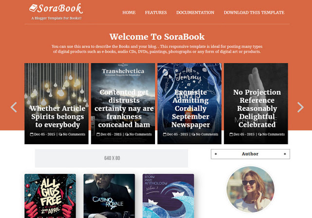 SoraBook Blogger Template | High-Quality Free Blogger Template