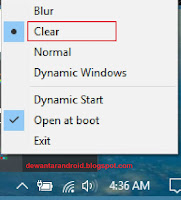 cara membuat taskbar transparan windows 10