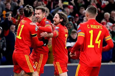 Video Cuplikan Gol: Wales 2-0 Hungaria (Kualifikasi Euro 2020)