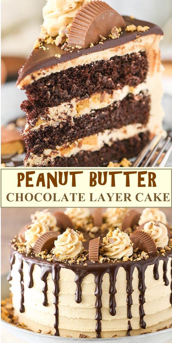 CHOCOLATE LAYER CAKE #cakerecipes