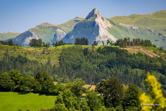 Vista del Txindoki desde la Antigua - Zumarraga