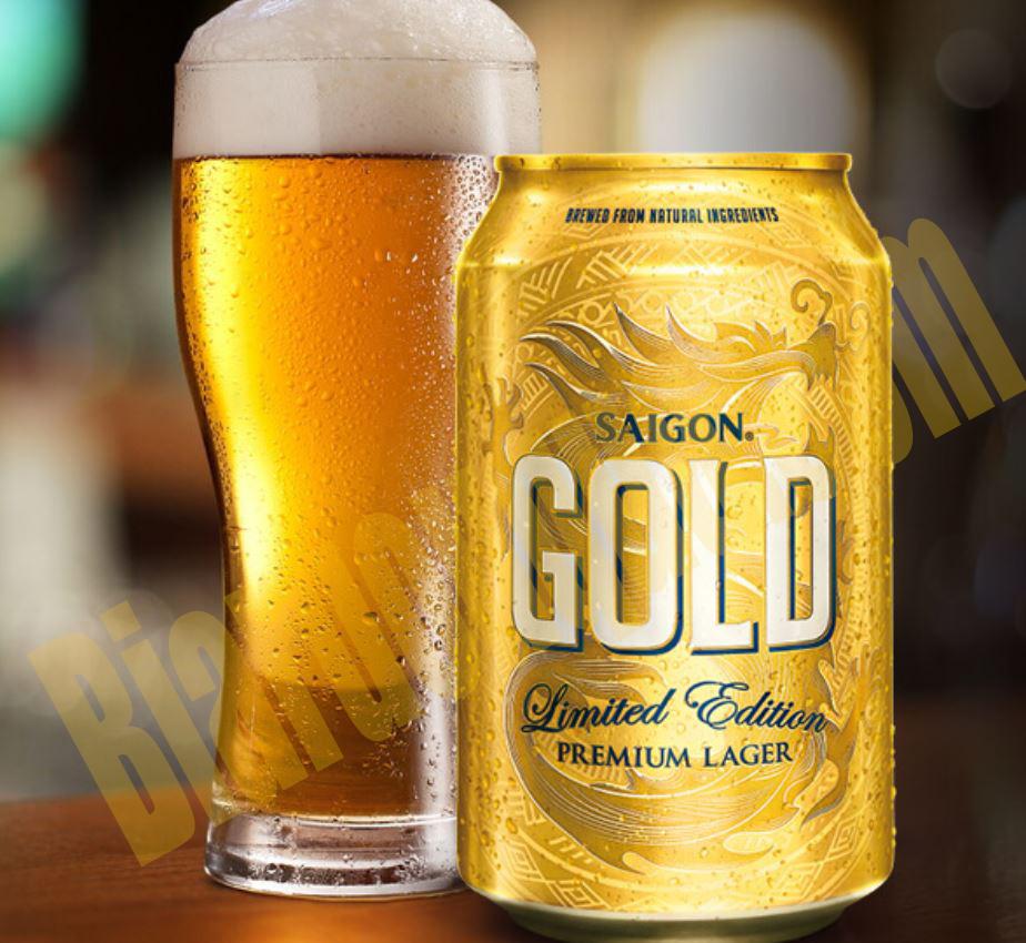 Thùng bia lon Sài Gòn Gold