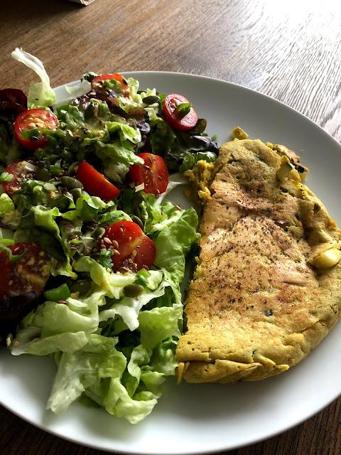 tortilla vegana jugosa
