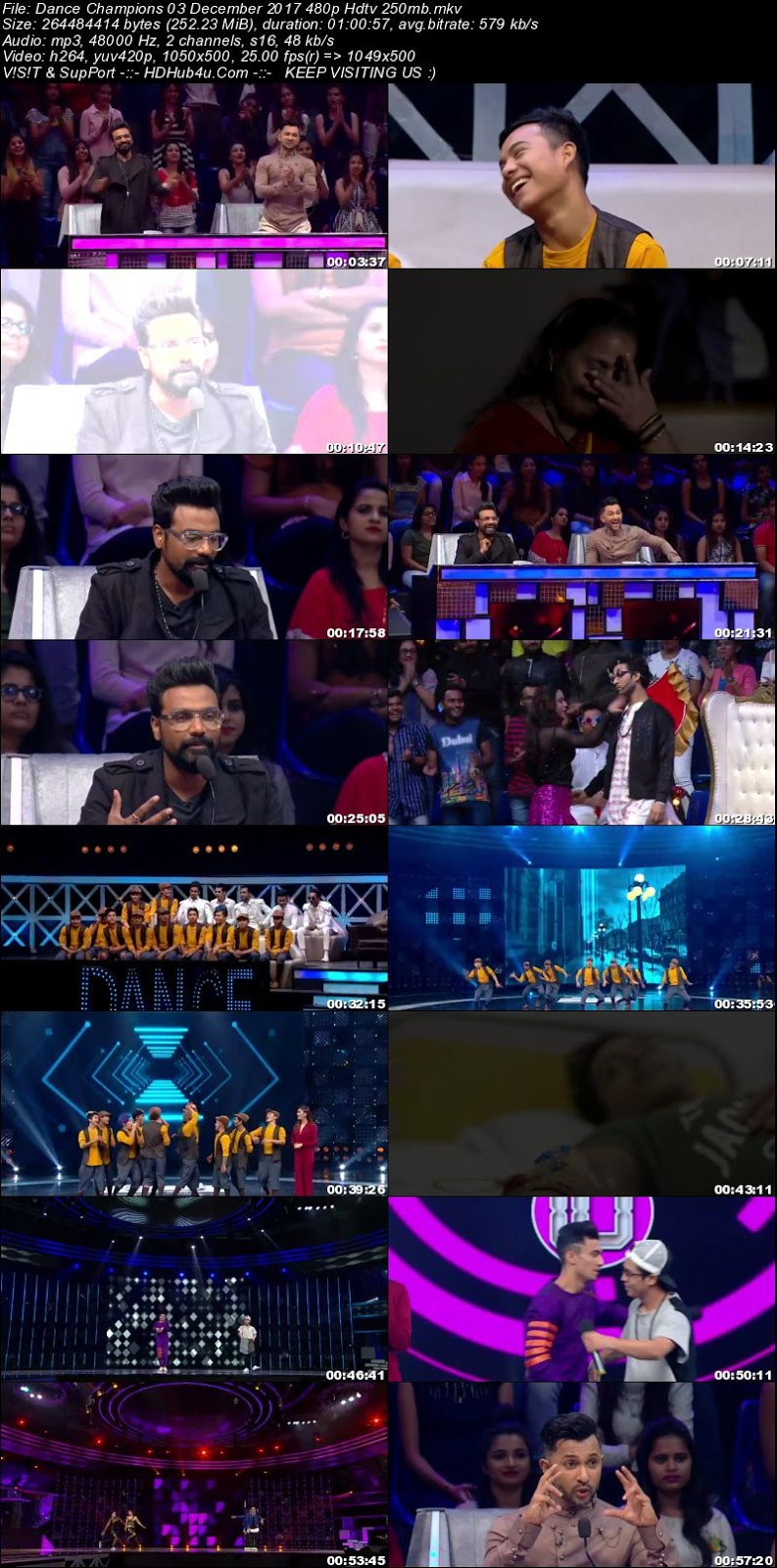 Dance Champions 03 December 2017 480p HDTV 250MB Download