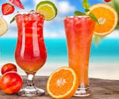 Resep praktis (mudah) es orange in red spesial (istimewa) enak, legit, segar, sedap, nikmat lezat