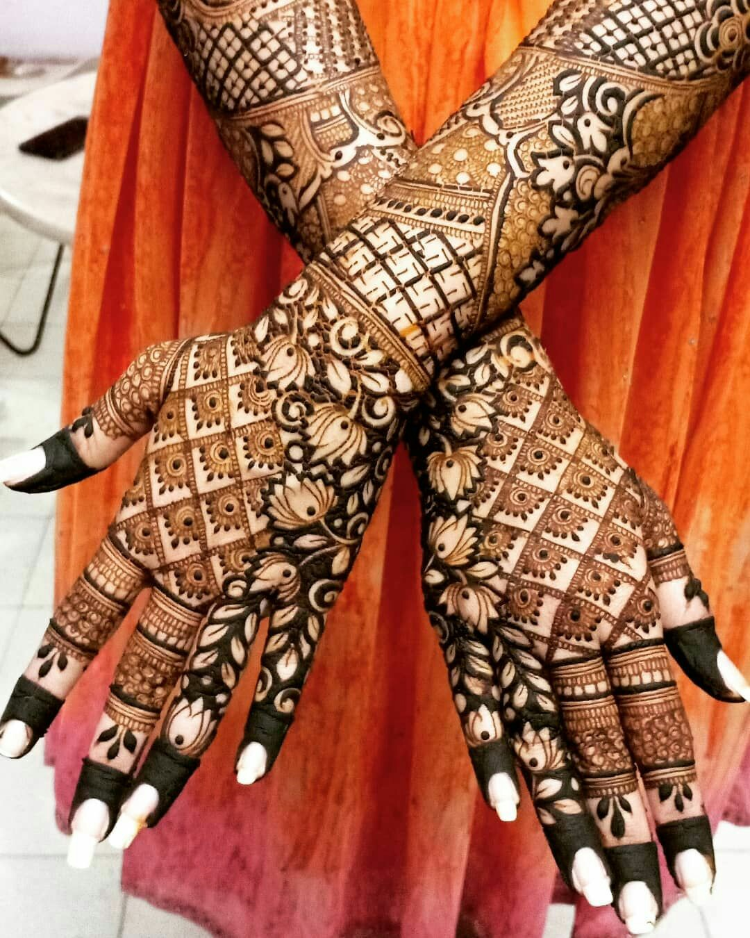 mehndi design bridal full hand back side