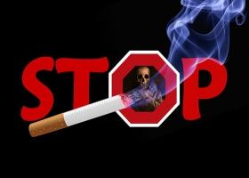 Stop smoking poster.