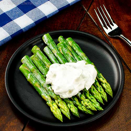 Asparagus with Savory Whipped Cream