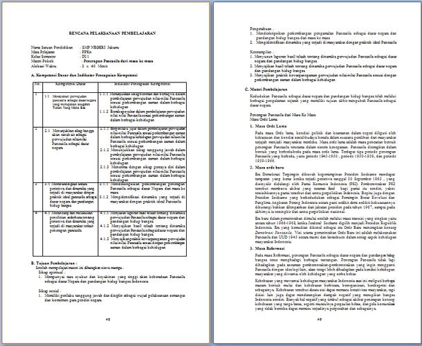 Silabus dan RPP PPKN SMP Kelas 7 8 dan 9 Revisi 2017 Sesuai Pemendikbud Nomor  21 dan 24 Tahun 2016