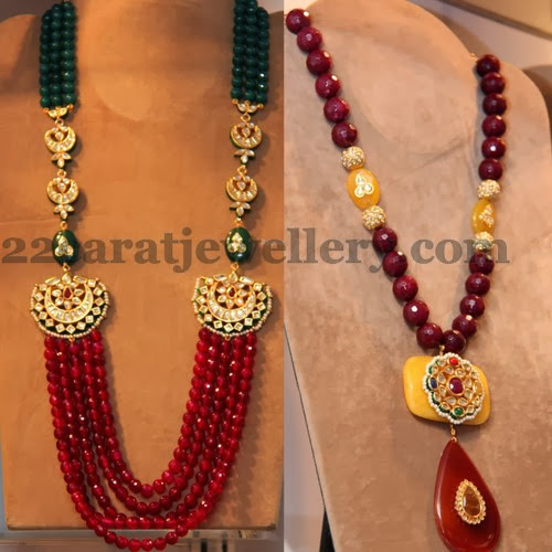 Stylish Fancy Ruby Beads Sets Jewellery Designs