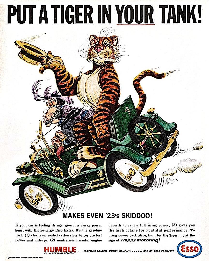 a Bob Jones illustration for Esso gasoline, Put A Tiger In YOUR Tank
