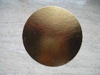 disco cartón oro plata