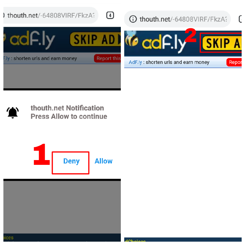 Skip adfly ad for collect bot token