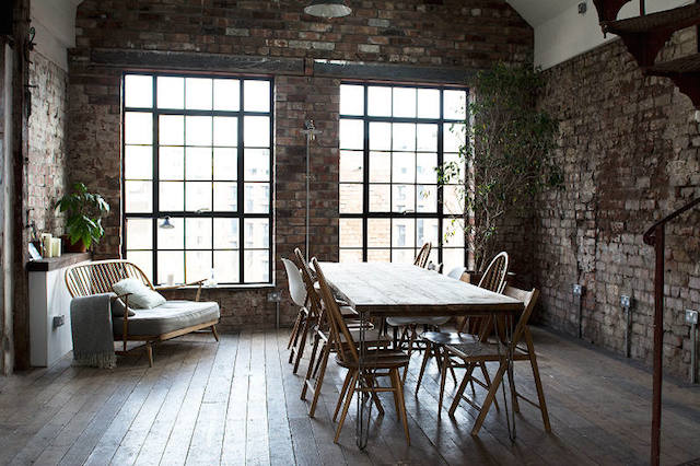Modern Home Stylish Workspace Inspiration An Industrial Style Collaborative Space Interior