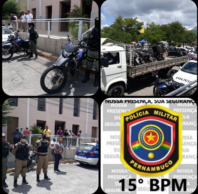 15º BPM e BeloTran realizaram Operação Varredura em Belo Jardim, PE